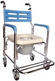 鋁合金便器椅(便盆椅)-附輪子-102W-A