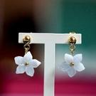 【喨喨飾品】櫻花藍紋耳環飾品S369