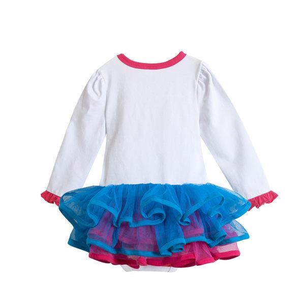 長袖包屁裙 立體蛋糕 蓬蓬紗裙 女寶寶 包屁衣 爬服 哈衣 Augelute Baby 37222