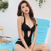 連身游泳衣女性感新款2019小胸 聚攏大胸顯瘦比基尼遮肚韓國溫泉