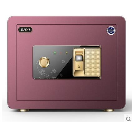 幸福居*指紋保險櫃家用辦公防盜 電子辦公保險箱小型迷你保管箱25cm  1(主圖款)