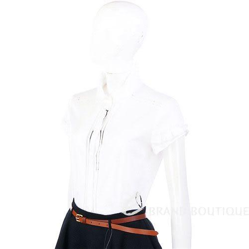 STRENESSE 白色蝴蝶結飾短袖襯衫 0510079-20
