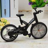 鬧鐘 創意自行車電子可愛小鬧鐘書房臥室擺設 ZB1135『美好時光』