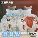 寢居樂 TENCEL天絲 雙人床包組【舞會派對】抑菌防螨、舒適親膚、吸濕排汗