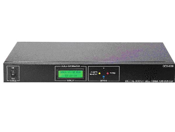 廣播主機 qcm-6200 數位式定時鐘 微電腦自動定時語音播放系統 學校 機關 公司 補習班 專用(定製品)