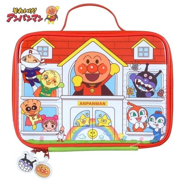 日本限定 麵包超人 家族 文具收納盒 收納袋 (內袋無附文具)