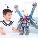 汽車變形玩具金剛大黃蜂警車機器人模型手辦正版帶車廂卡車電影版 【快速出貨】