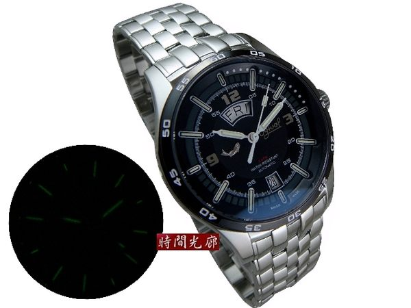 【時間光廊】瑞士製造 愛其華 夜鷹 黑框 氚氣 自體發光 機械錶 原廠公司貨 829-02AMS