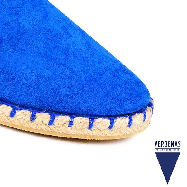 【VERBENAS】CALPE卡爾佩牛皮草編鞋/休閒鞋  藍色(058-NA)