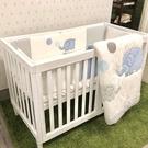 【預計7月初到貨】喬依思 La joie 史丹佛6合1多功能書桌嬰兒床-贈4cm床墊-白色 (120X60)