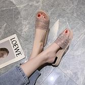 平底拖鞋 拖鞋女夏季新款時尚外穿百搭舒適平底網紅防滑懶人涼拖ins潮 寶貝計畫