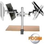 [富廉網] FOGIM TKLA-6032-SM 夾桌懸臂式液晶螢幕支架(雙螢幕)(和順電通)