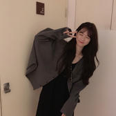 針織外套 秋冬裝新款韓版寬松慵懶風針織開衫中長款百搭學生毛衣女外套