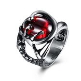 鈦鋼戒指 紅寶石-復古個性霸氣潮流生日情人節禮物男飾品73le192[時尚巴黎]