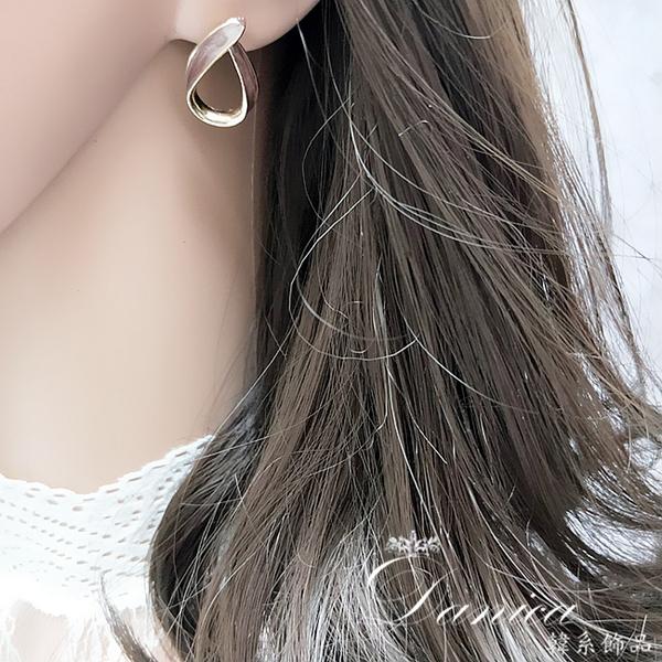 現貨 韓國時尚女神氣質百搭幾何法式水滴925銀針耳環 S93563 批發價 Danica 韓系飾品 韓國連線