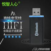 USB藍牙音頻接收器立體聲 有線變無線音響車載功放藍牙棒適配器  潮流前線