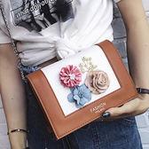 側背包 新款立體花朵單肩小方包 7038 花朵 女包包 母親節 禮物