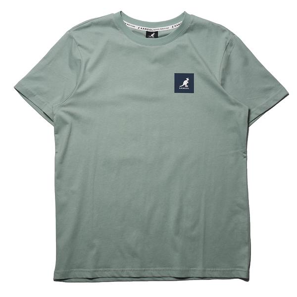 KANGOL 短袖 短T 袋鼠 灰綠 正方LOGO 後大LOGO 男 (布魯克林) 6125101371