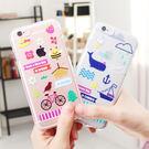 韓國 春夏秋冬 透明軟殼 手機殼│iPhone 5S SE 6 6S 7 8 Plus X XS MAX XR LG G5 G6 G7 V20 V30 V35 V40│z7332