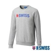 K-SWISS 2 Tone KS Logo Sweatshirt刷毛圓領上衣-女-淺灰