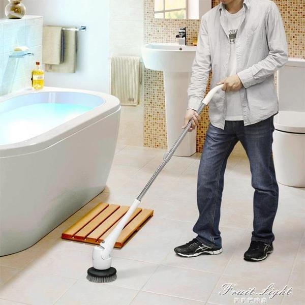 電動清潔刷子家用無線浴室衛生間廁所地板瓷磚多功能清洗機車神器 果果輕時尚