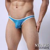 情趣男用內褲 VENUS 低腰性感透明囊袋款 三角褲 藍