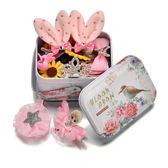韓國兒童發夾頭飾發飾寶寶女童發卡公主小女孩飾品套裝發夾子發繩  易貨居