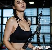 MDBuddy肱三頭肌拉力繩訓練器健身下拉繩索雙頭繩下壓龍門架配件 時尚芭莎