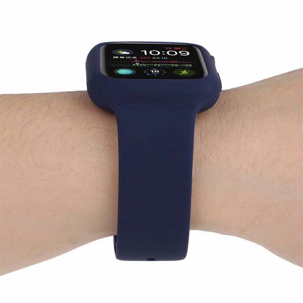 蘋果錶帶 Apple Watch 1 2 3 4代 錶帶 一體 矽膠錶帶 替換帶 運動 防摔 手錶錶帶 智慧錶帶 腕帶