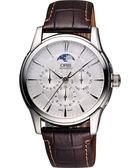 ORIS 豪利時 Artelier藝術家多功能月相盈虧機械手錶-銀 0178177034051-0752170FC