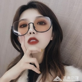 墨鏡女新款圓臉太陽眼鏡大臉顯瘦韓版潮街拍ins偏光防紫外線 三角衣櫃
