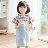 背帶裙 女童牛仔背帶裙=夏裝時尚洋氣兒童套裙韓版小女孩牛仔裙子【全館九折】