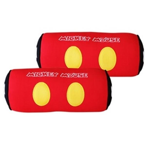 車之嚴選 cars_go 汽車用品【WDC163】迪士尼Disney Mickey Mouse米奇 舒適 頸靠墊 頭枕 紅色2入