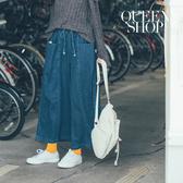 Queen Shop【04011370】百搭大口袋造型腰綁帶牛仔寬褲*現+預*
