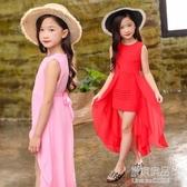 童裝洋裝兒童禮服燕尾裙主持公主裙女童雪紡花童鋼琴錶演服【快出】