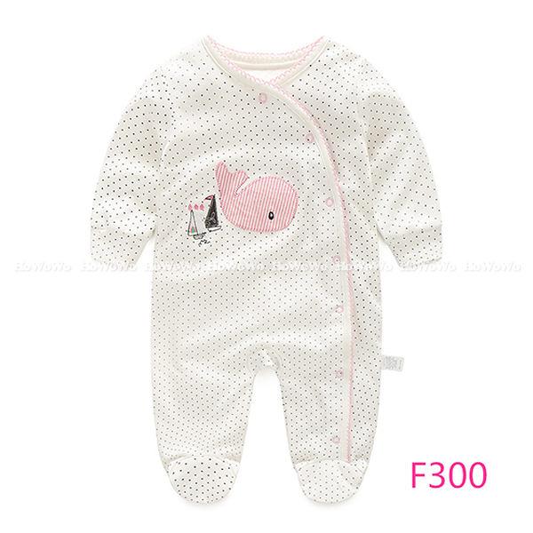 超低折扣NG商品~長袖包腳兔裝 寶寶前開長袖連身衣/包腳兔裝 LZ4414 好娃娃