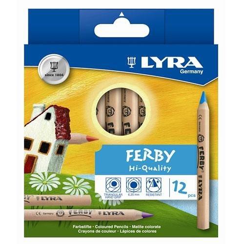 【德國LYRA】三角原木色鉛筆 (12cm)12色