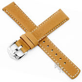 【台南 時代鐘錶 海奕施 HIRSCH】皮革錶帶 Mariner L 棕色 附工具 14502170 柔滑100米防水