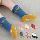 貓咪小狗捲邊加厚毛圈中筒襪 三雙組 童襪 捲邊襪 加厚襪
