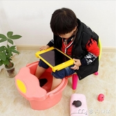 泡腳桶兒童泡腳桶塑料加厚寶寶洗腳桶小號按摩足浴盆帶蓋保溫洗腳盆 麥吉良品YYS