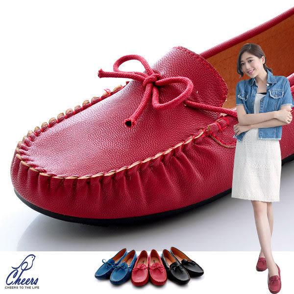 休閒鞋*鵲兒*基本款鬆緊細帶朵節柔軟豆豆帆船包鞋 現貨【W218】