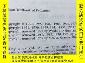 二手書博民逛書店Nelson罕見Textbook of Pediatrics(英