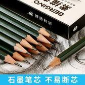 博格利諾鉛筆套裝初學者專業美術素描鉛筆學生用2B4BHB繪畫鉛筆套裝軟炭中炭硬