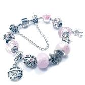 手鍊 串珠-水晶琉璃飾品甜美公主風生日情人節禮物女配件73bo38【時尚巴黎】