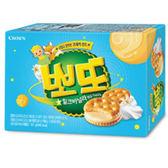 Crown Poteau香草牛奶夾心餅乾161g【愛買】