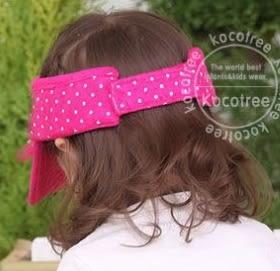 時尚可愛蕾絲字母點點兒童遮陽帽空頂帽 Lemonkid 檸檬寶寶 12101