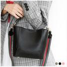 包中包-韓版質感拼接雙背帶手提/斜背包中包-共3色-A15152334-天藍小舖