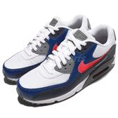Nike 復古慢跑鞋 Air Max 90 Essential 白 藍 灰 氣墊 休閒鞋 男鞋【PUMP306】 537384-135