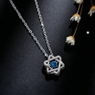 藍鑽六芒星項鏈女鎖骨森系簡約個性星芒項鏈會跳舞的吊墜