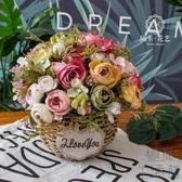 小清新仿真插假花束擺件裝飾品絹花藝干花【極簡生活】